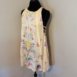 NWT Free People Floral Inkblots Summer Dress